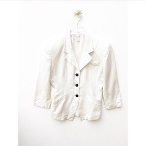 christian dior shoulder pad vintage blazer jacket